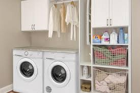 White Laundry Room Cabinets Closet Works Mudroom And Laundry Room Cabinets Storage Solutions