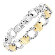 magnetic bracelet gold plated images Womens magnetic bracelet gold plated horseshoe style jpg