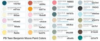 pb teen benjamin moore paint colors from 2008 collection pb has