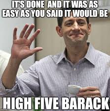 High Five Meme - paul ryan high five imgflip