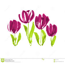 Conceptmodern by Color Paint Concept Modern Tulip Flower Sketch Stock Illustration