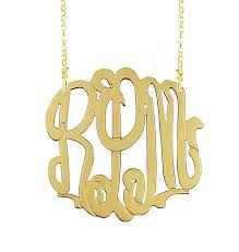 initial monogram necklace gold filled 3 initial monogram necklace be monogrammed