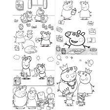 peppa pig party favor mini coloring book design