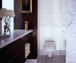 a compliant toilet tanks bathroom modern with tile flooring