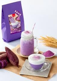 cuisine en violet เคร องด มชน ดผงปร งสำเร จรสม นม วง