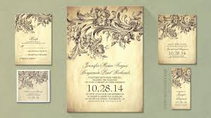 Vintage Wedding Programs Read More U2013 Old Vintage Inspired Wedding Invitation Wedding