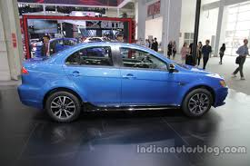 mitsubishi lancer 2016 2016 mitsubishi lancer ex side profile at auto china 2016 indian