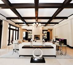 black and white console tables entry traditional with wall mural black and white console tables living room contemporary with coffered ceiling white standard bookcases