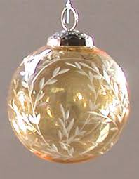 etched glass ornaments decore