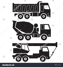 dump truck concrete mixer truck truck stock vector 197320256