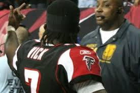 Michael Vick Gives Middle Finger
