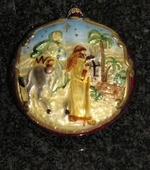 tree ornament 3 bethlehem nativity vtg krebs glas lauscha