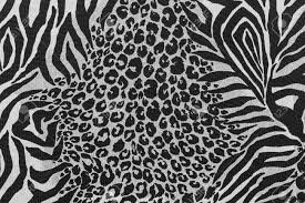 texture of print fabric striped leopard and zebra for background