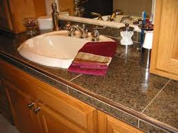 bathroom tile countertop ideas granite tile countertops granite tile countertop in white tiger