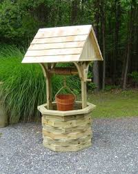 wishing well garden planter feature planters gardens and garden