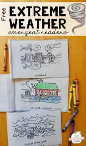 all weather writing paper free emergent readers about extreme weather the measured mom