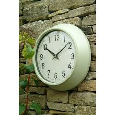outdoor garden clock in clay colour garden accessories cuckooland