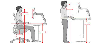 proper standing desk posture ergonomic office desk chair and keyboard height calculator intended