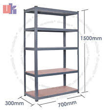 Heavy Duty Garage Shelving by 1500 High 700 Width 300 Depth Mm Storage 5 Tier Heavy Duty Garage