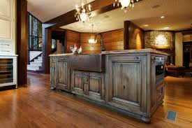 Log Cabin Kitchen Cabinets Rustic Gray Kitchen Cabinets