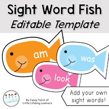 sight word fish editable template little lifelong learners
