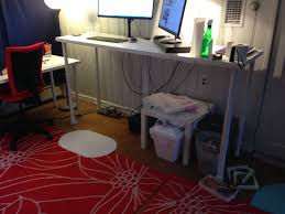 Stand Up Desks Ikea by Standing Desk Linnmon Adils