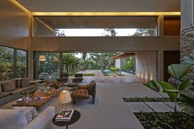 house design inside the house luxurious home uses wood and stone elements to marry interiors and