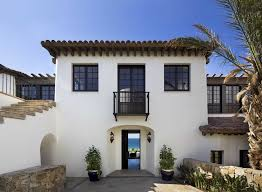 stucco windows exterior mediterranean with old spanish style