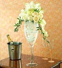 Tall Champagne Glass Vases Tall Glass Vase Arrangements Large Glass Vase Arrangements