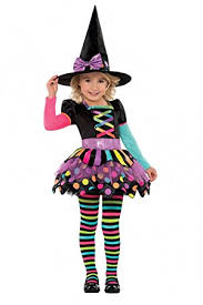 Halloween Costumes For Kids Girls New Amscan Kids Halloween Miss Matched Witch Girls Fancy Dress