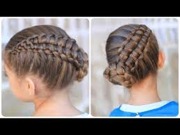coolest girl hairstyles ever zipper braid updo cute girls hairstyles youtube