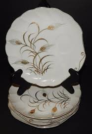 lefton china pattern 4 lefton china snack plates golden wheat pattern 2768 painted