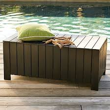 Outside Storage Bench Chocolate Storage Bench For Outdoor Use