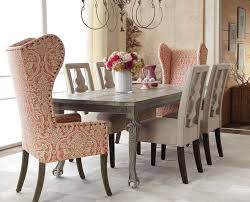 dining room end chairs glamorous wingback chairs in dining room traditional with wing