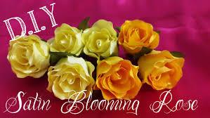 satin roses d i y satin blooming tutorial myindulzens