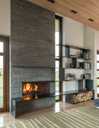 Unique And Beautiful Stone Fireplace by Best 25 Modern Stone Fireplace Ideas On Pinterest Stone