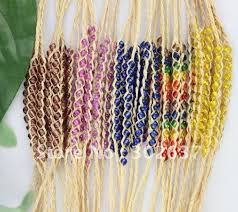 where to buy raffia 30pcs mixed colours braided raffia wish bracelets 21621 in charm