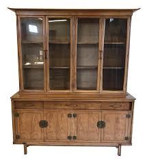 china cabinet thomasville walnut asian style china cabinettch