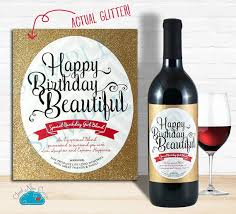 wine birthday gifts happy birthday wine label with real glitter birthday gift for