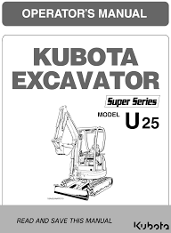 kubota u25 super series operator u0027s manual garton tractor