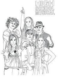 High School Musical Coloring Pages Inspiring High School Musical Coloring Pages For High