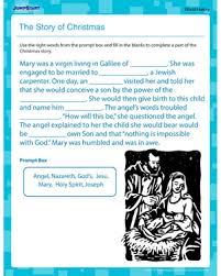 the story of christmas u2013 free world religion worksheet for 5th