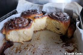 sarah cooks cream cheese cinnamon rolls with caramel pecan topping