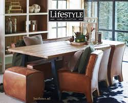 lifestyle aspen dining chair leather brown keukenstoelen lifestyle