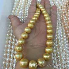 gold pearls necklace images 2018 big 18 inch 16 12 mm south sea golden pearl necklace 14k gold jpg