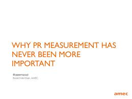 pr measurement important