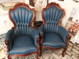 Navy Blue Leather Club Chair Maison Decor How To Paint Velvet Chairs With Chalk Paint By Annie