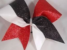 african american cheer hair bows red black white glitter cheer bow by blingitoncheerbowz ebay