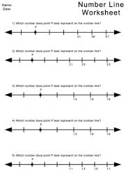 kindergarten number lines number line worksheets worksheets