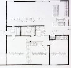 Construction Floor Plans The Basic Floor Plan Of An Alexander Mid Century Tract Homes